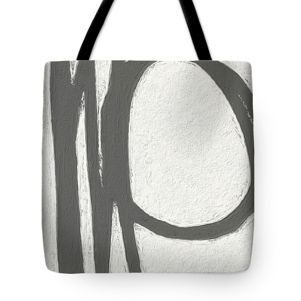 Abstract Tote Bag featuring the painting Intersection by Linda Woods