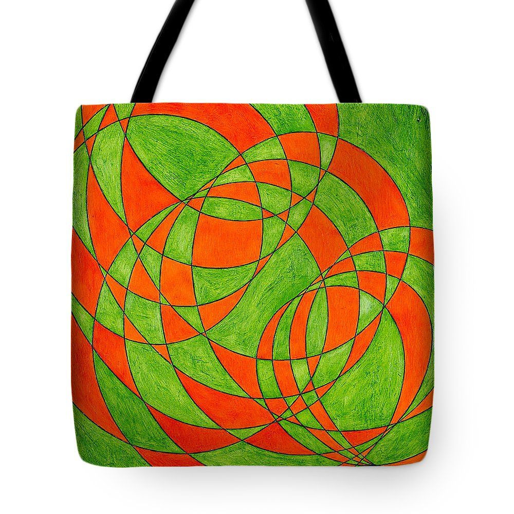 Abstract Oil Painting Tote Bag featuring the painting Intersection, No. 1 by Mark Lewis