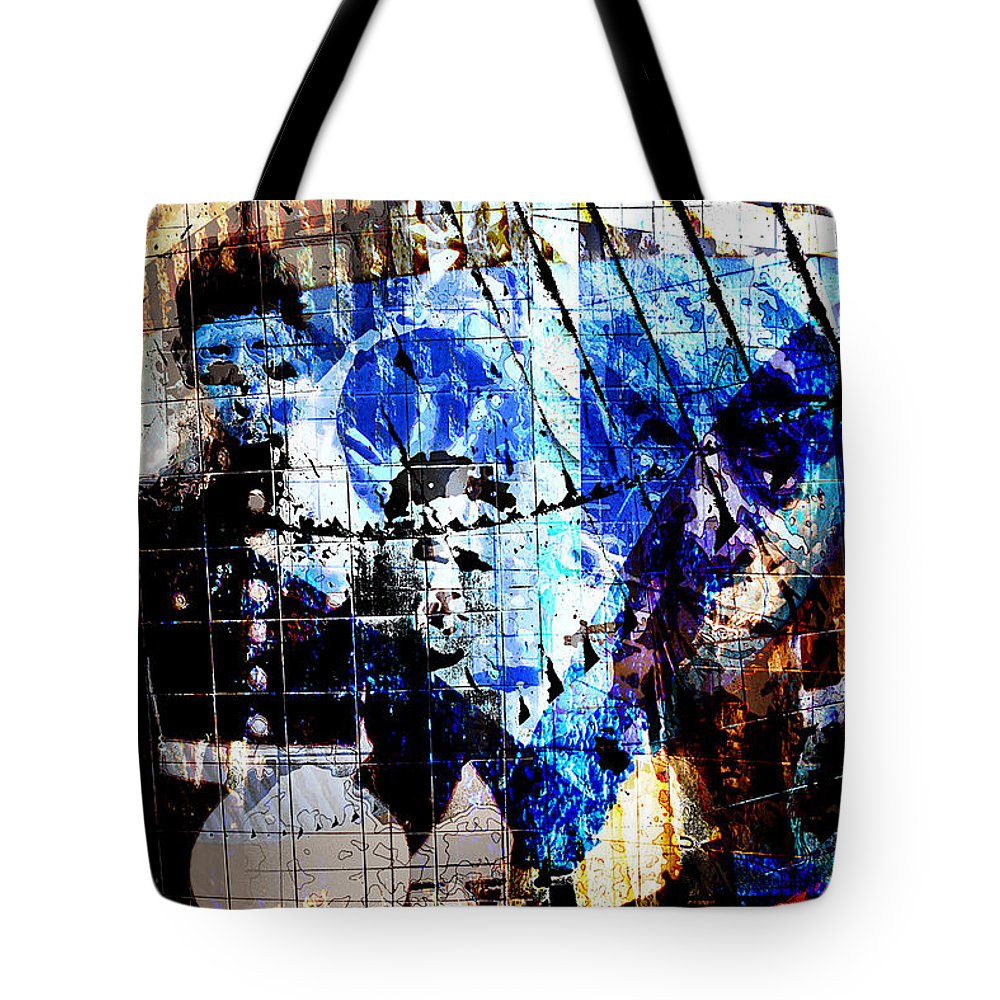 Interstate 10 Tote Bag featuring the digital art Interstate 10- Exit 257a- St Marys Rd / 6th St Underpass- Rectangle Remix by Arthur BRADford Klemmer