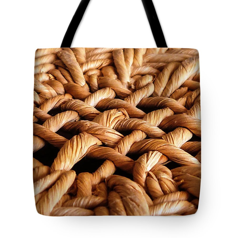 Jwygantbasketweavefiber Tote Bag featuring the photograph Intertwined by Jeanette Wygant