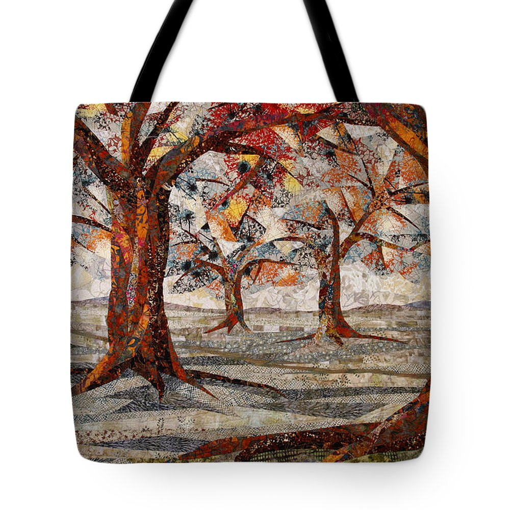 Trees Tote Bag featuring the tapestry - textile Interwoven by Linda Beach