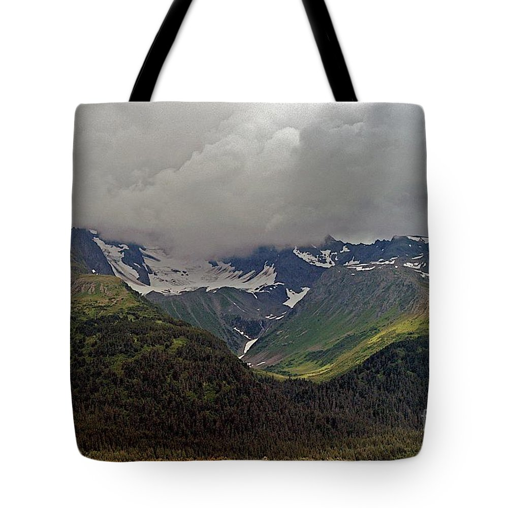 Alaska Tote Bag featuring the photograph Into It by Joseph Yarbrough