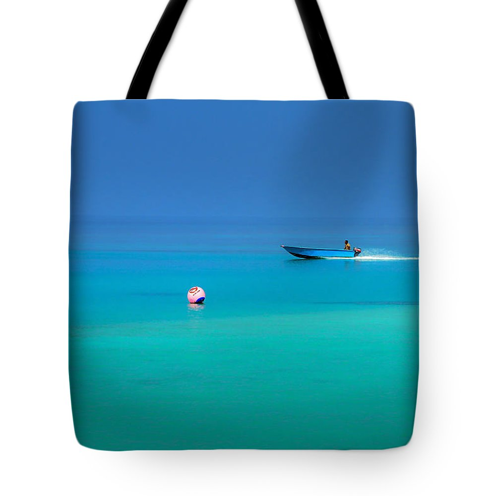 Maldives Tote Bag featuring the photograph Into The Blue. Maldives by Jenny Rainbow
