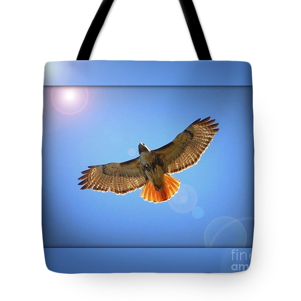Digital Art Tote Bag featuring the photograph Into The Light by Carol Groenen