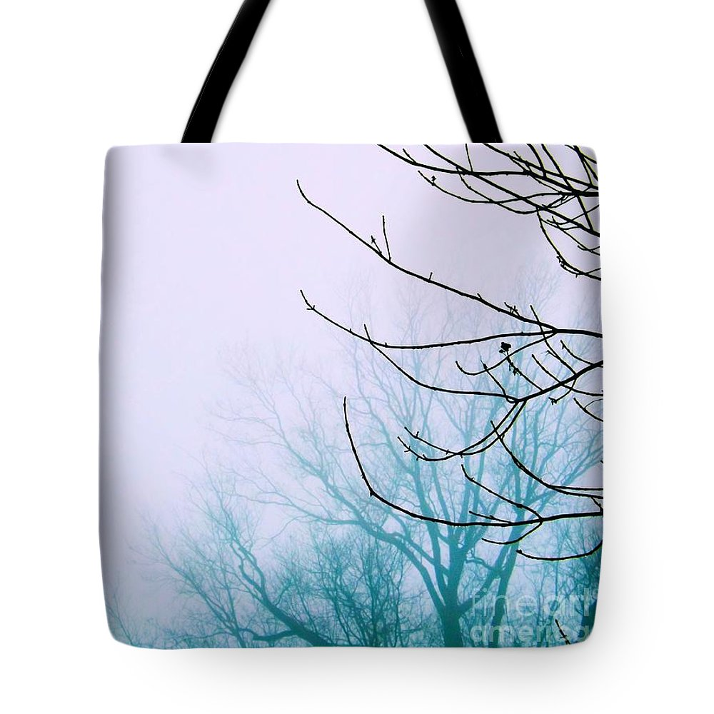 Tree Tote Bag featuring the photograph Into The Mist by Robyn King