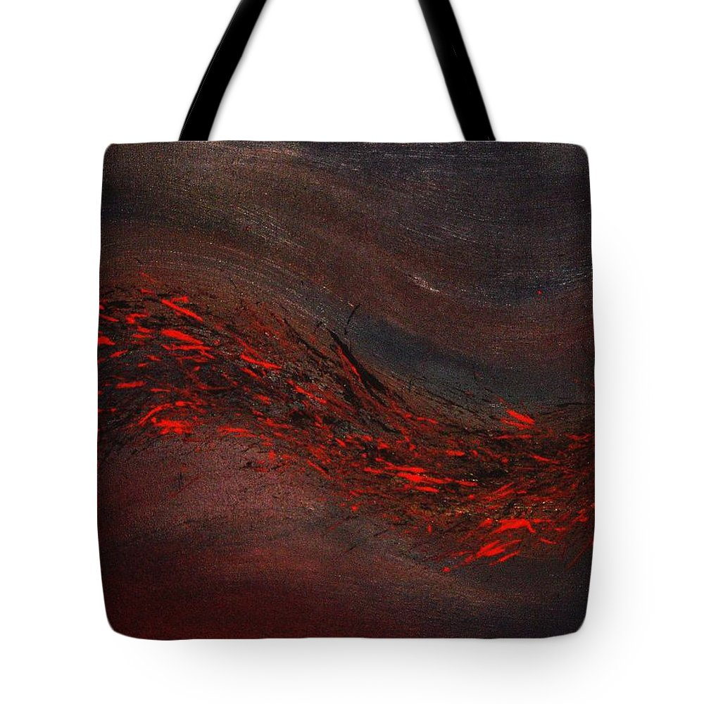 Acrylic Tote Bag featuring the painting Into The Night by Todd Hoover