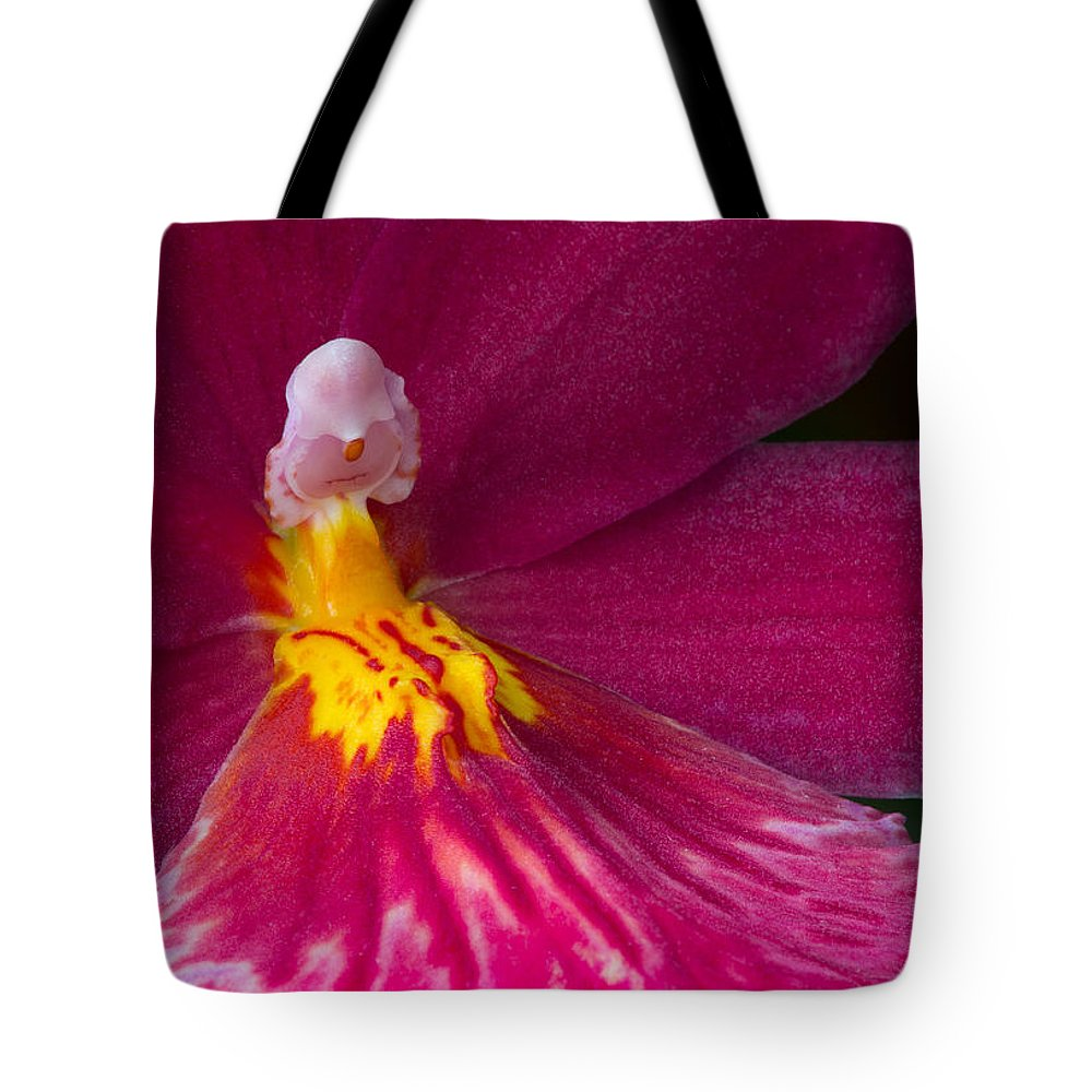 Orchid Tote Bag featuring the photograph Into The Orchid by Dale Kincaid