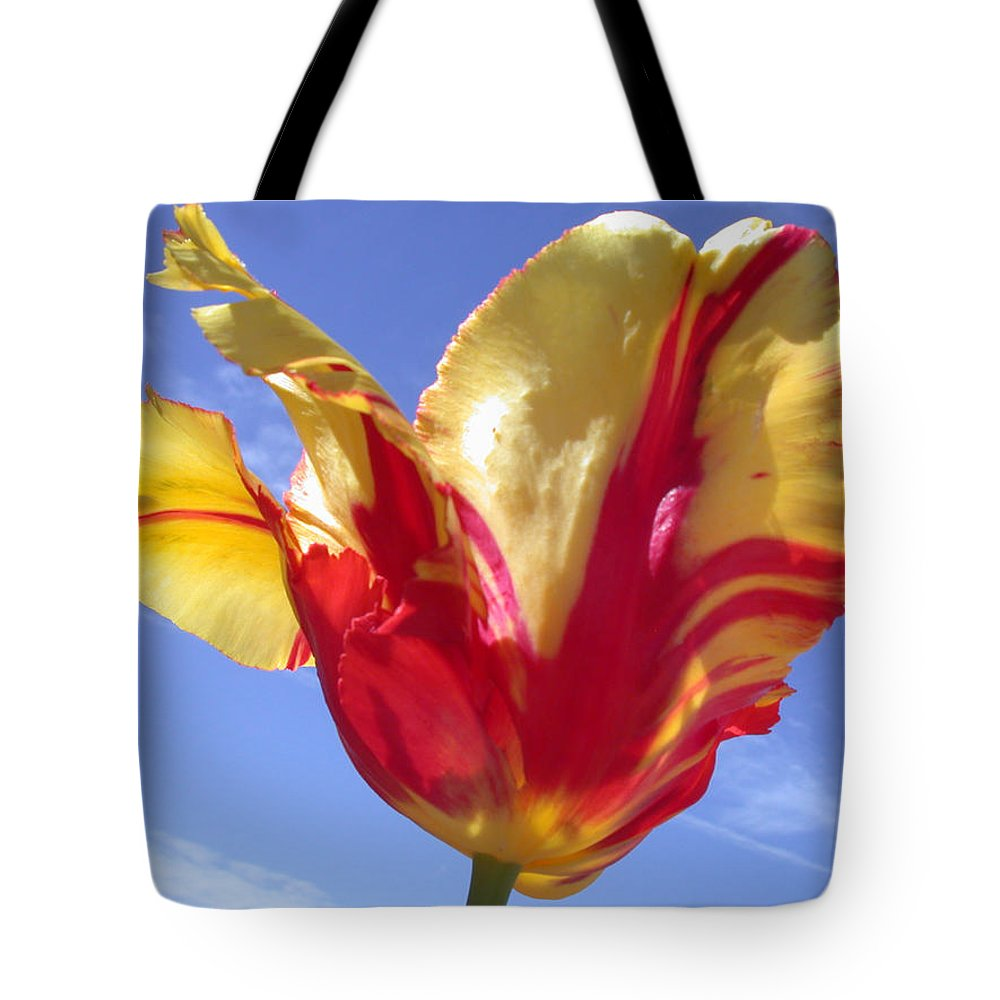 Tulip Tote Bag featuring the photograph Into The Sky by Shane Bechler
