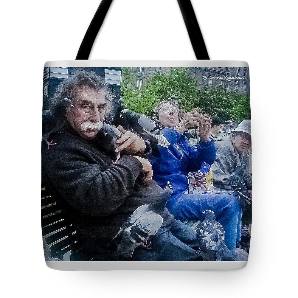 Man Tote Bag featuring the photograph Invasion De Pigeons by Stwayne Keubrick