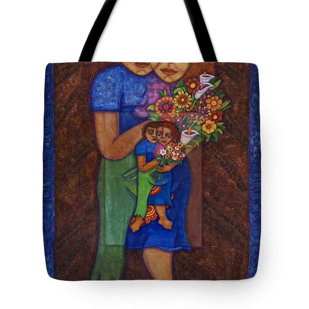 Invention Of Love Tote Bag featuring the painting Invention Of Love by Madalena Lobao-Tello