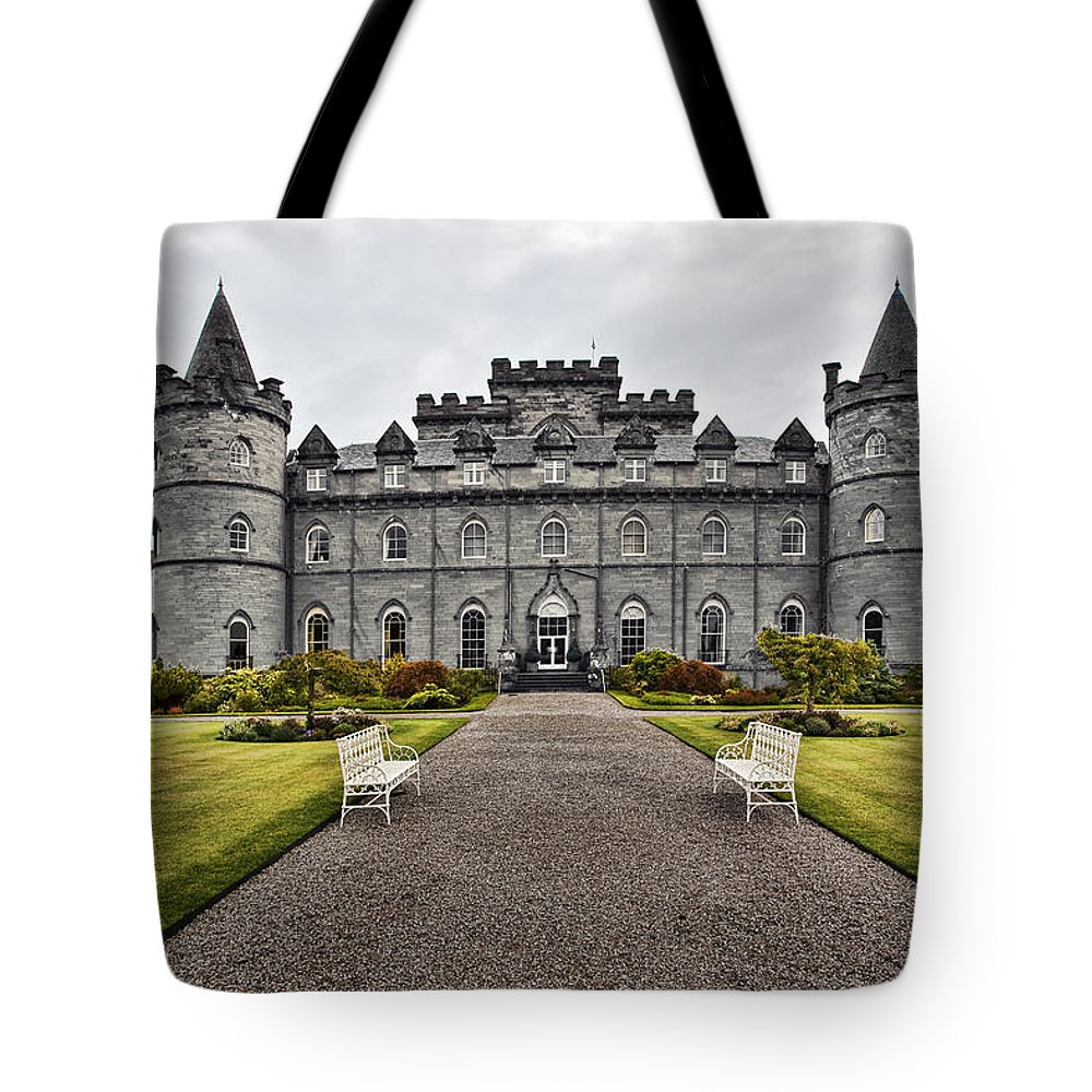 Architecture Tote Bag featuring the photograph Inveraray Castle Argyll by Marcia Colelli