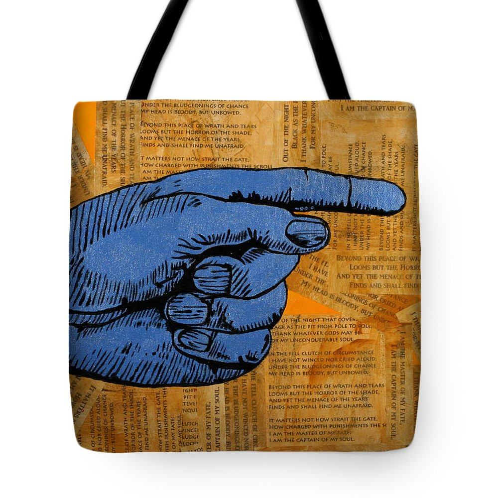 Invictus Tote Bag featuring the painting Invictus by Julianne Hunter