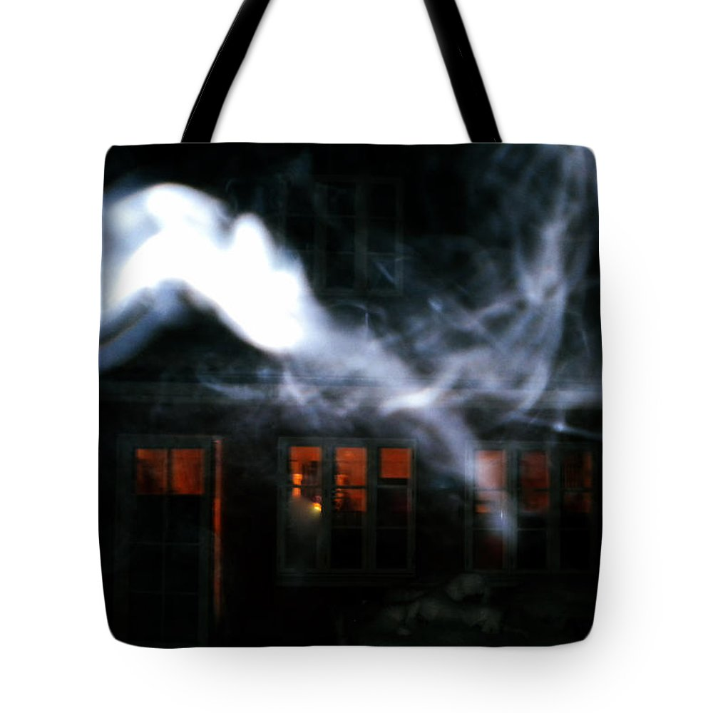 Colette Tote Bag featuring the photograph Invisibles Visiters From Beyond Flying In Over Night by Colette V Hera Guggenheim