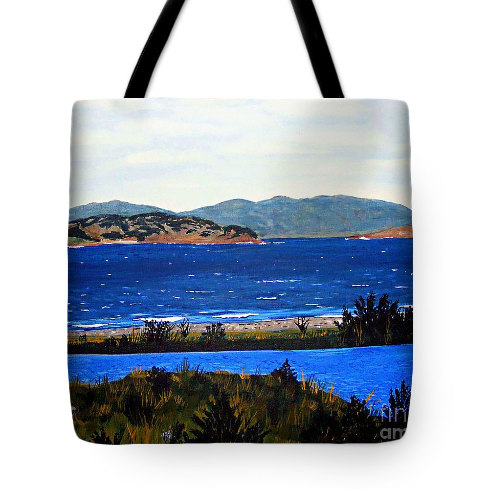 Islands Tote Bag featuring the painting Iona formerly Rams Islands by Barbara Griffin