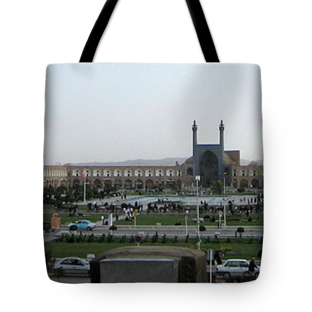 Isfahan Tote Bag featuring the photograph Iran Isfahan Landmarks by Lois Ivancin Tavaf