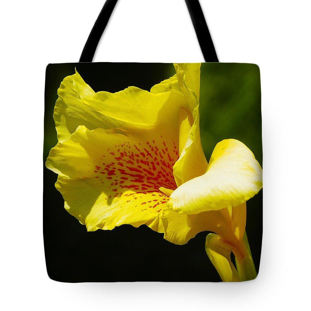 Abundance Tote Bag featuring the photograph Iris 1 by Ingrid Smith-Johnsen