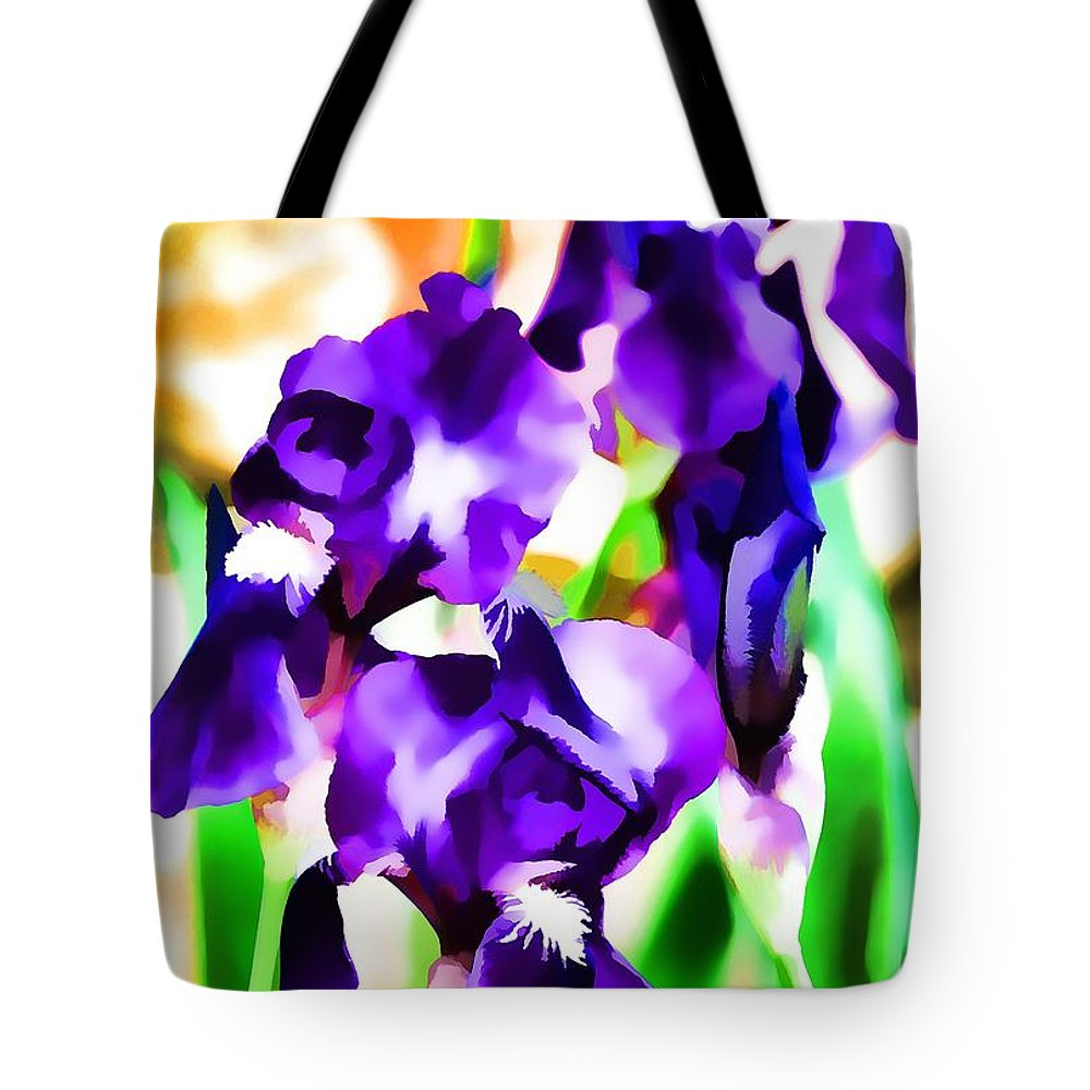 Floral Tote Bag featuring the photograph Iris 63 by Pamela Cooper