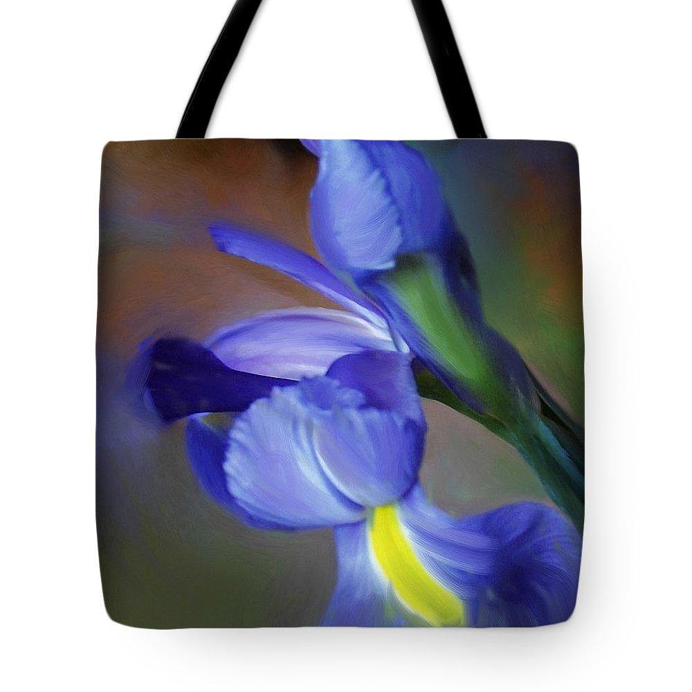 Iris Tote Bag featuring the painting Iris Dream by Francine Dufour Jones