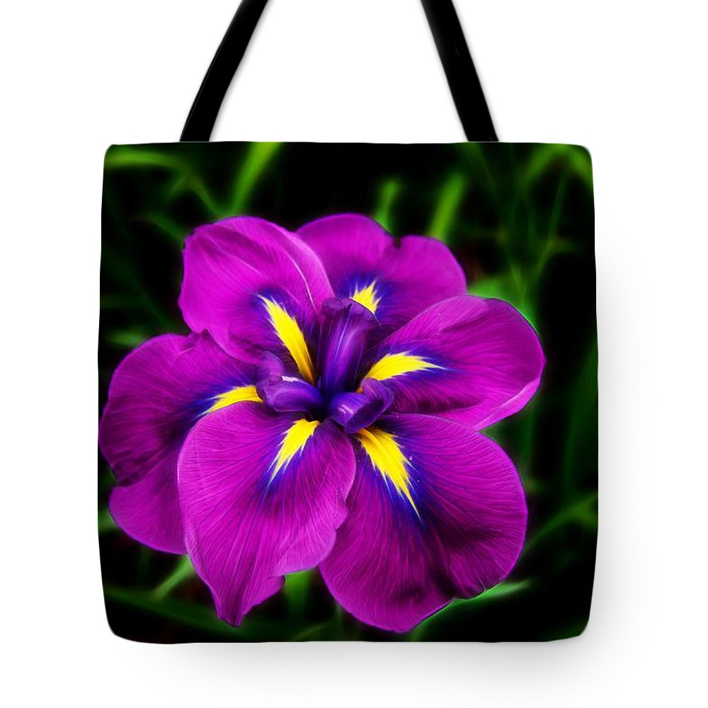 Flower Tote Bag featuring the photograph Iris Flower by FL collection