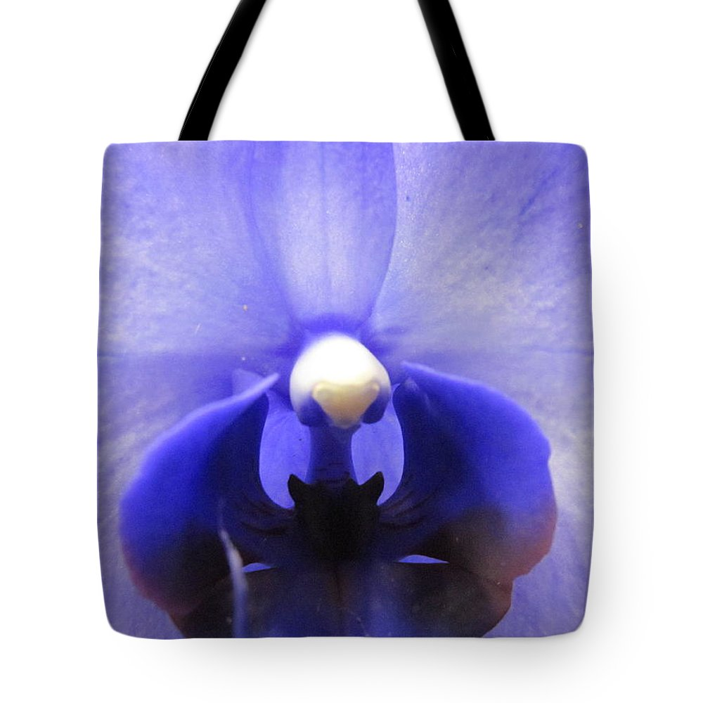 Iris Tote Bag featuring the photograph Iris Inside by Tina M Wenger