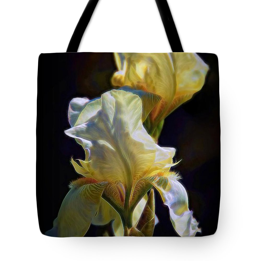 Iris Tote Bag featuring the photograph Iris by Patrick Witz