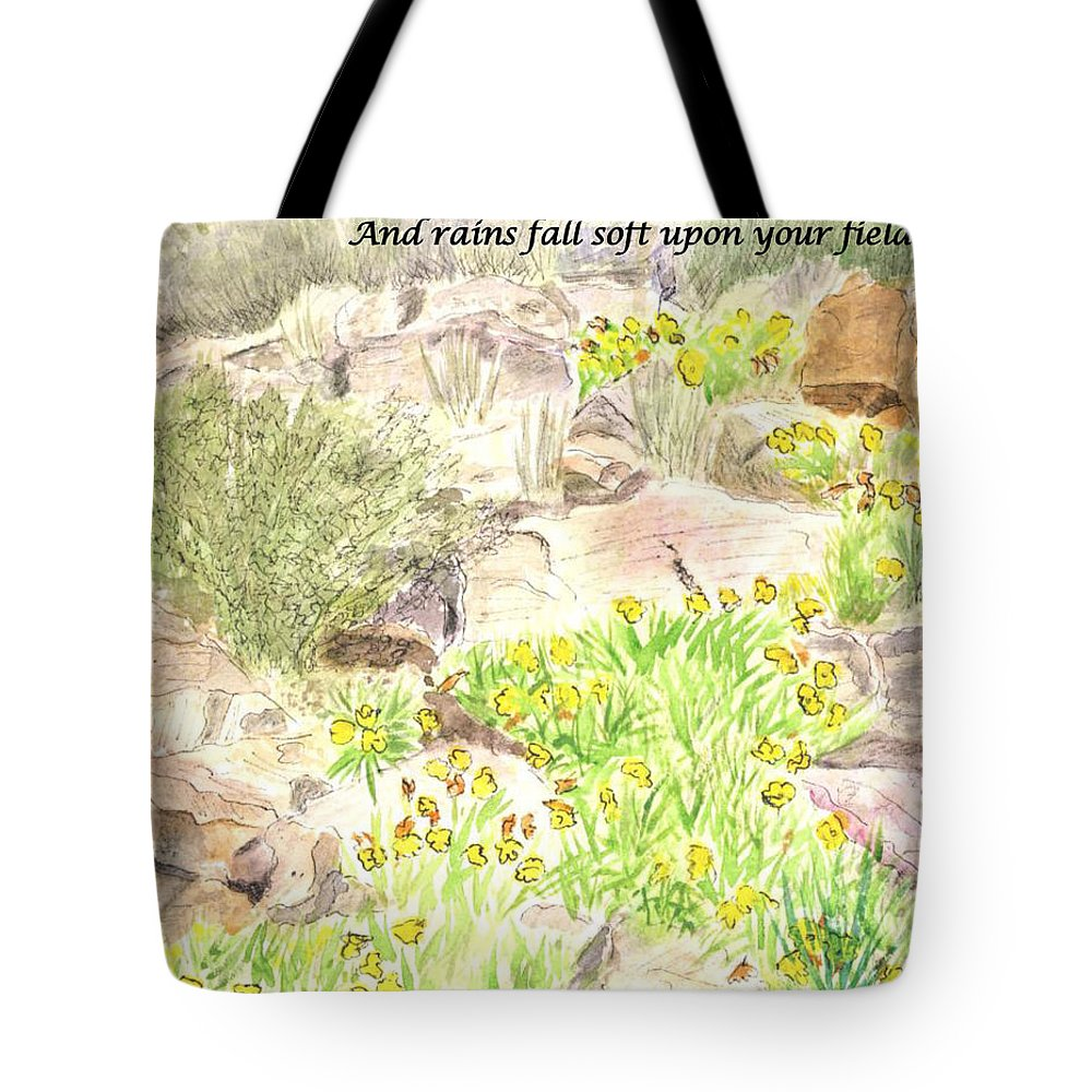 Irish Blessing Tote Bag featuring the painting Irish Blessing by Linda Feinberg