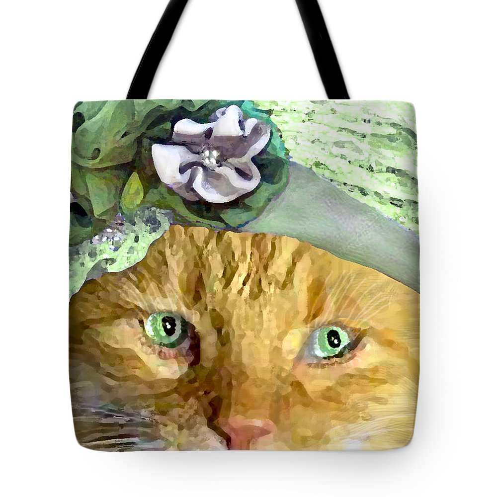 Cat Tote Bag featuring the painting Irish Cat by Michele Avanti