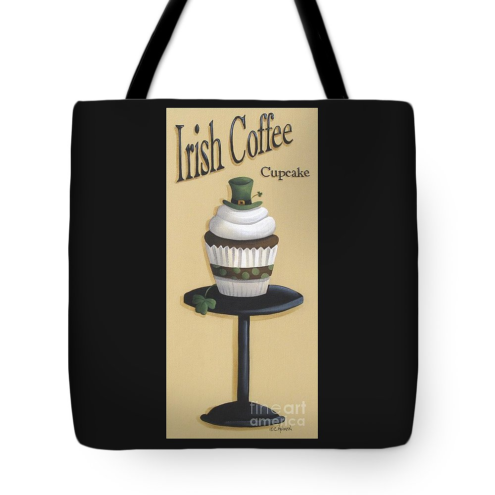 Art Tote Bag featuring the painting Irish Coffee Cupcake by Catherine Holman