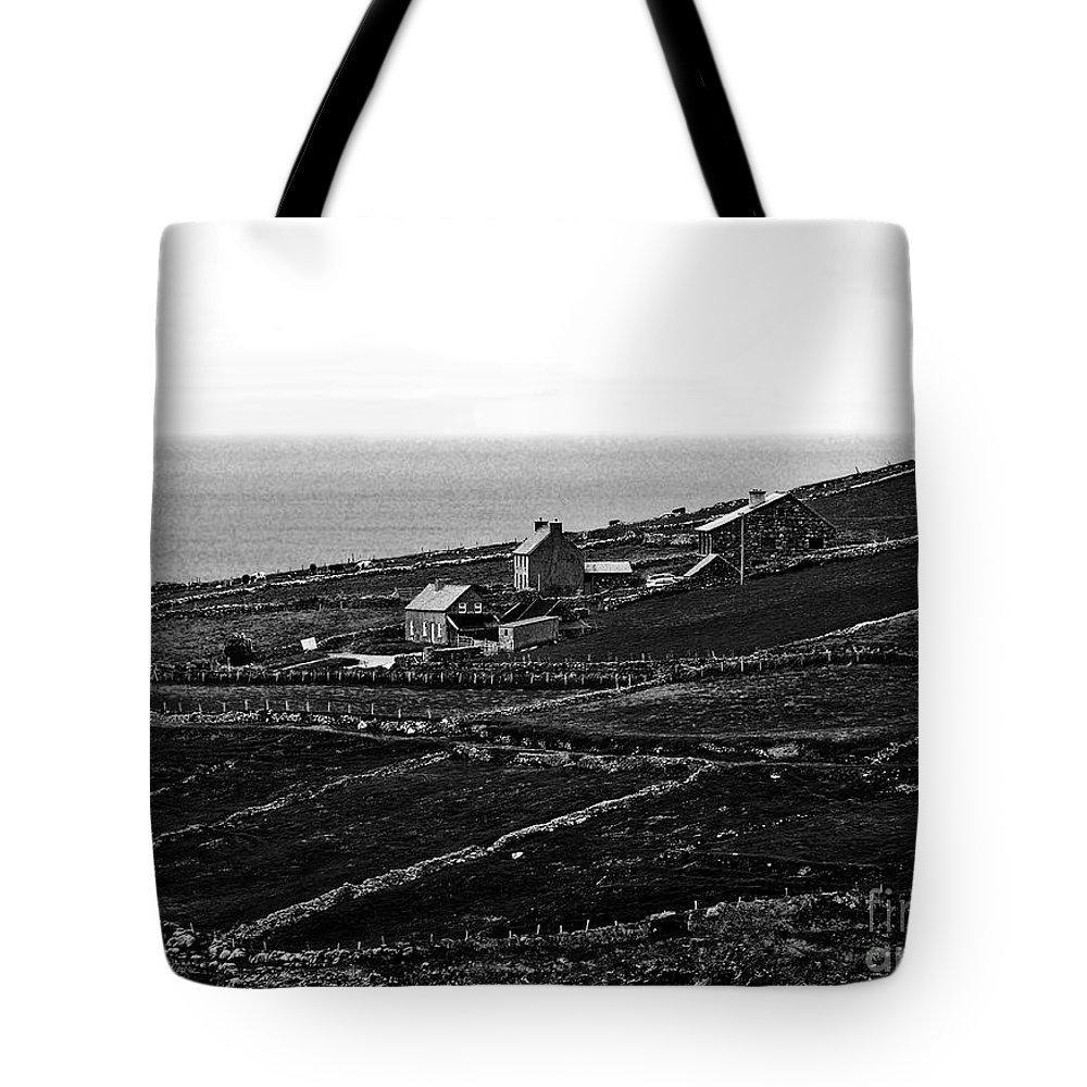 Ireland Photography Tote Bag featuring the photograph Irish Farm I - The Real Survivors by Patricia Griffin Brett