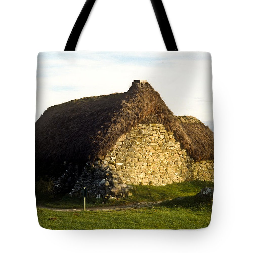 Irish Tote Bag featuring the photograph Irish Hut by Douglas Barnett