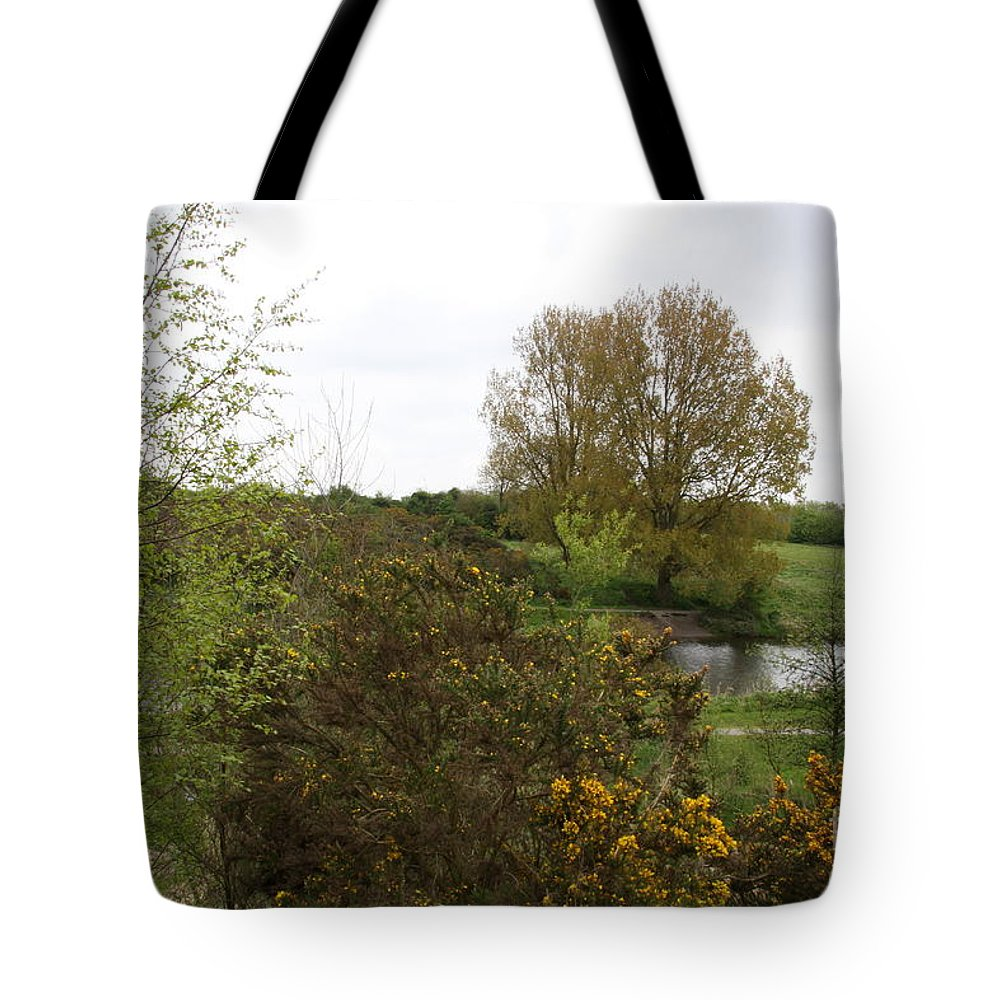 Irish Landscape Tote Bag featuring the photograph Irish Landscape In Spring by Christiane Schulze Art And Photography