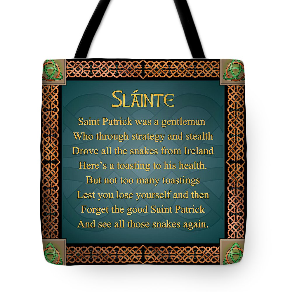Irish toast slainte tote bag for sale by ireland calling slainte tote bag featuring the digital art irish toast slainte by ireland calling m4hsunfo
