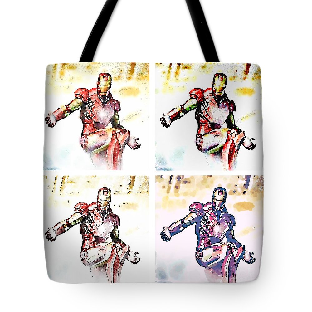 Iron Tote Bag featuring the painting Irons by Helge