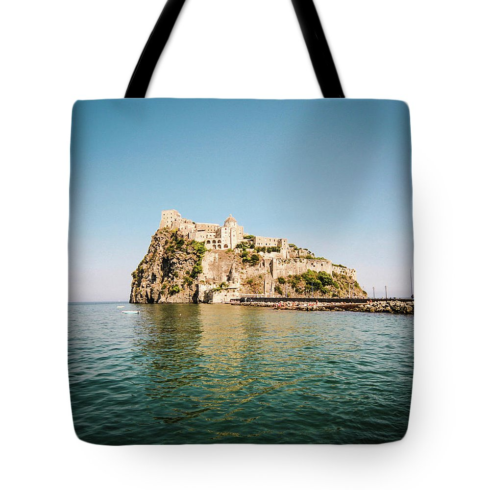 Tyrrhenian Sea Tote Bag featuring the photograph Ischia Island Castle by Angelafoto