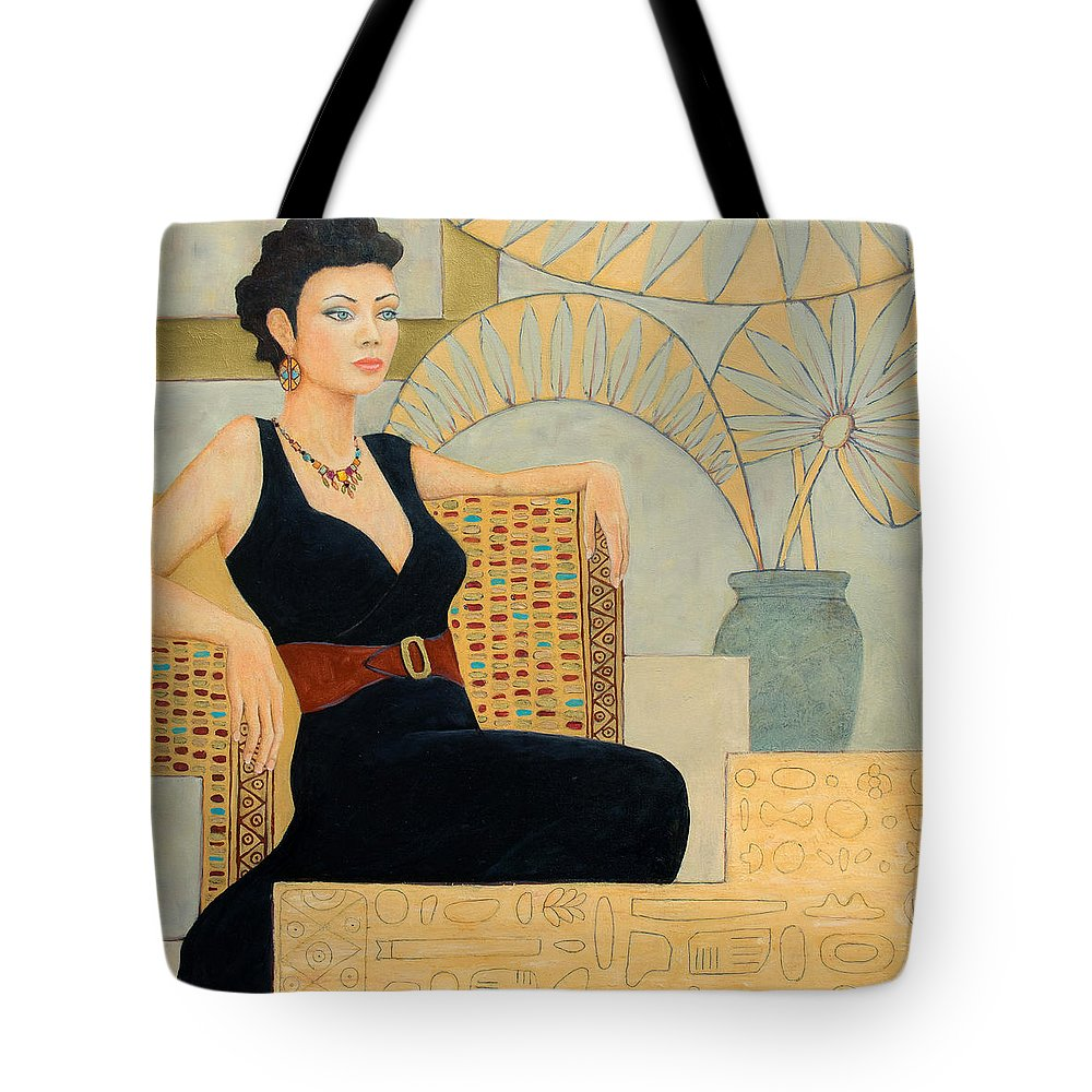 Fantasy Tote Bag featuring the painting Isis by Don Perino