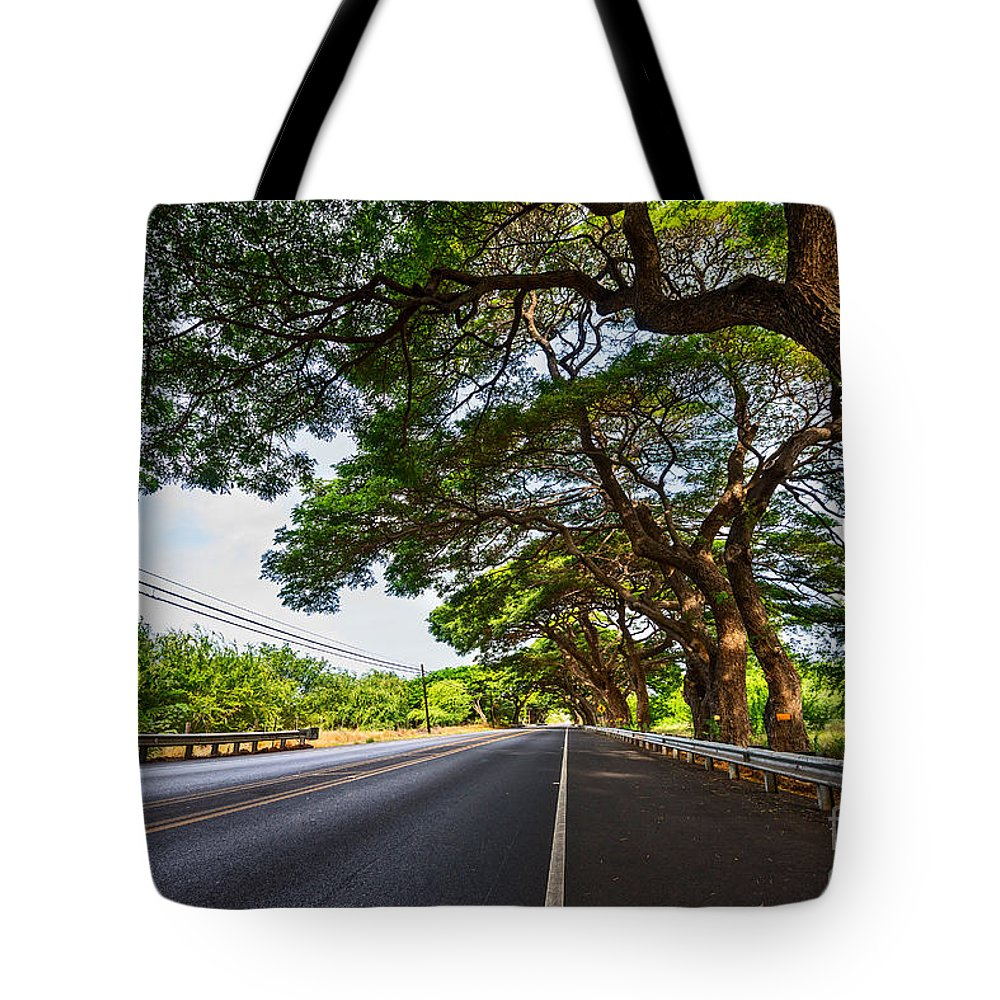 Maui Tote Bag featuring the photograph Island Drive by Jamie Pham