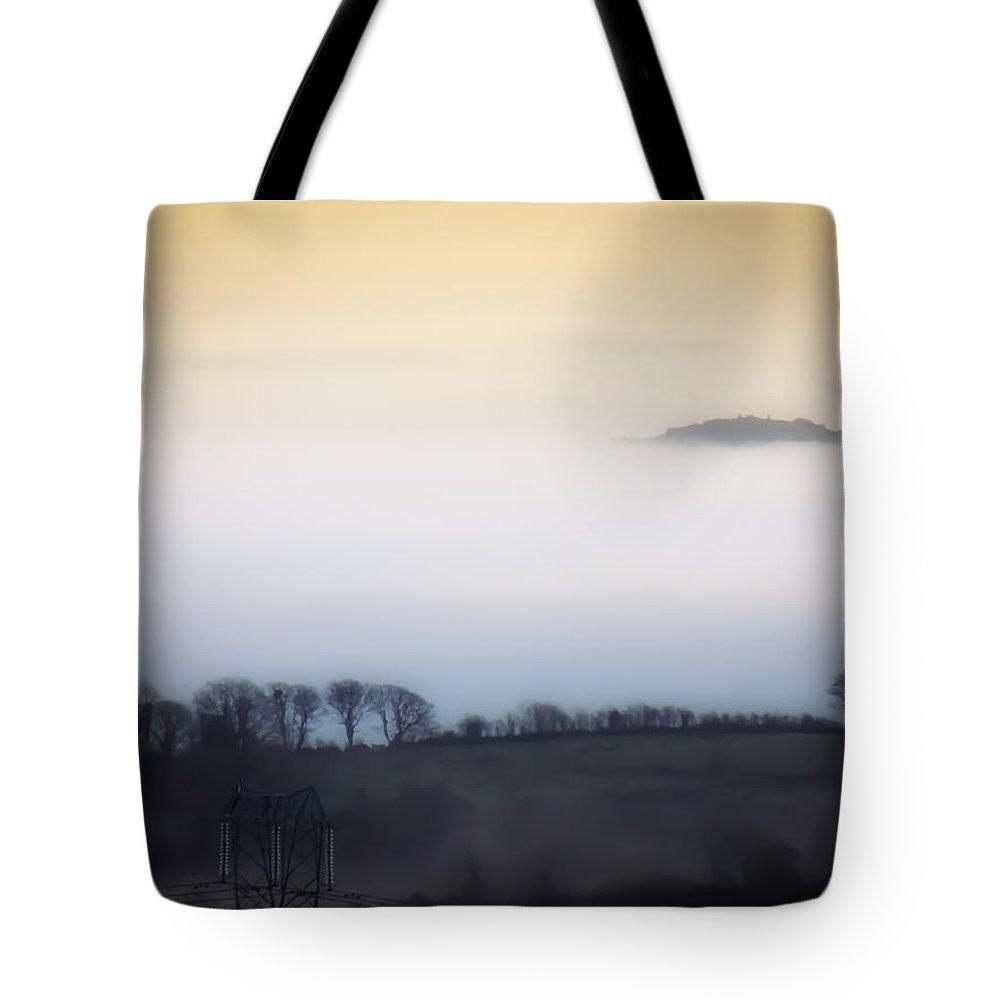 Ireland Tote Bag featuring the photograph Island In The Irish Mist by James Truett