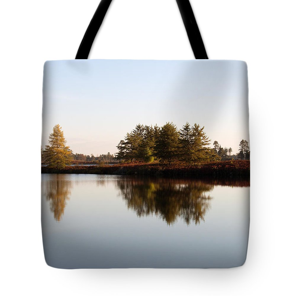 Wetland Tote Bag featuring the photograph Island Trees by Linda Kerkau