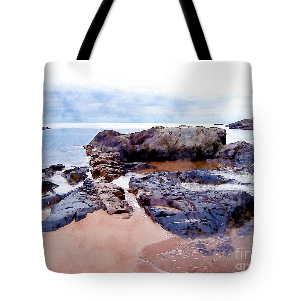 Lake Superior Tote Bag featuring the photograph Islands Off The Shore by Phil Perkins