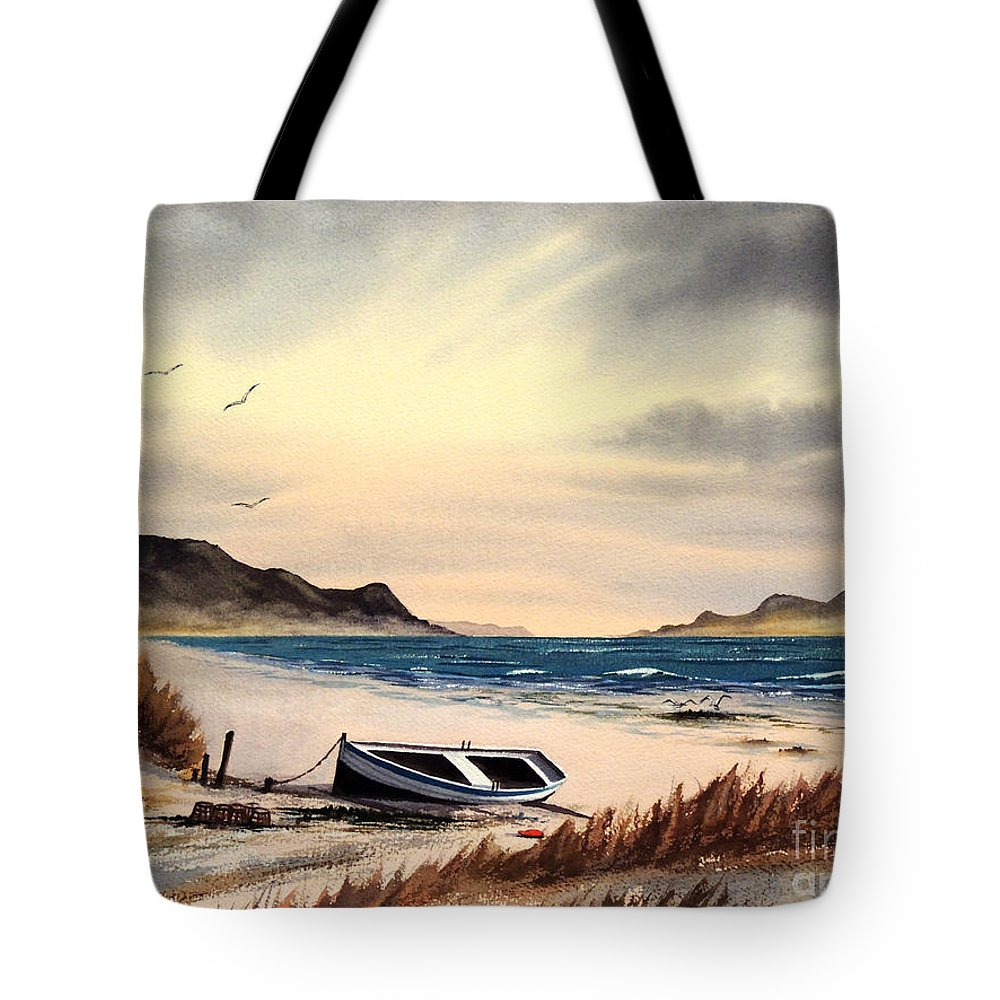 Isle Of Mull Scotland Tote Bag featuring the painting Isle Of Mull Scotland by Bill Holkham