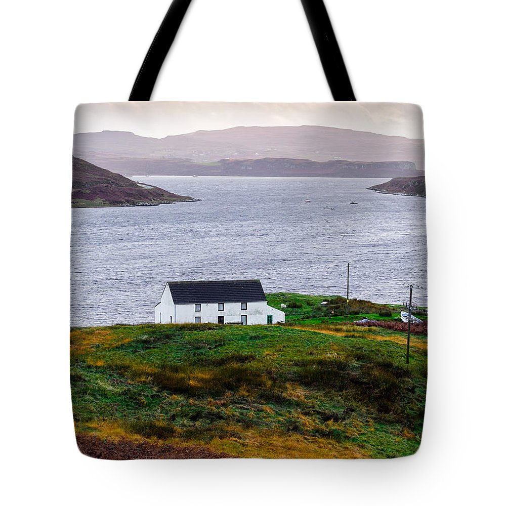 House Tote Bag featuring the photograph Isle Of Skye Cottage by Mark Llewellyn