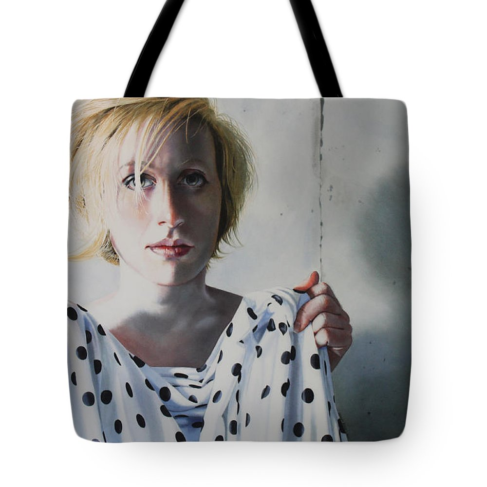 Female Tote Bag featuring the painting Isolated by Denny Bond