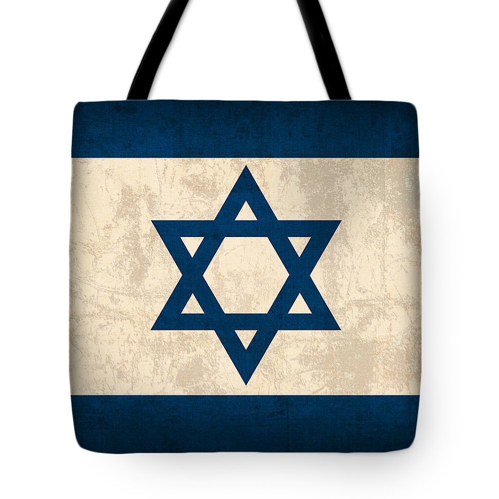 f55d48cda2 Israel Flag Vintage Distressed Finish Tote Bag featuring the mixed media  Israel Flag Vintage Distressed Finish