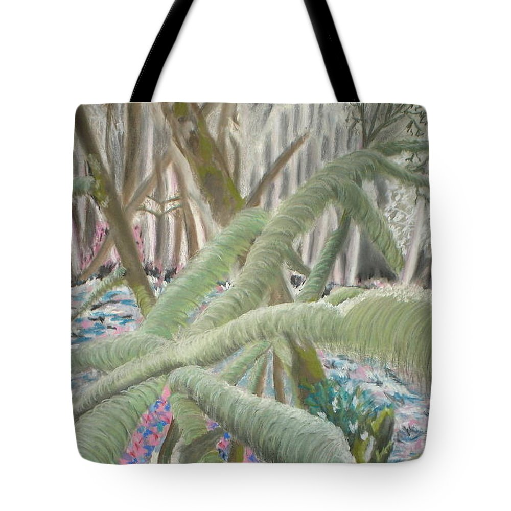 Landscape Tote Bag featuring the pastel Issaquah Forest by Judy Gerstner