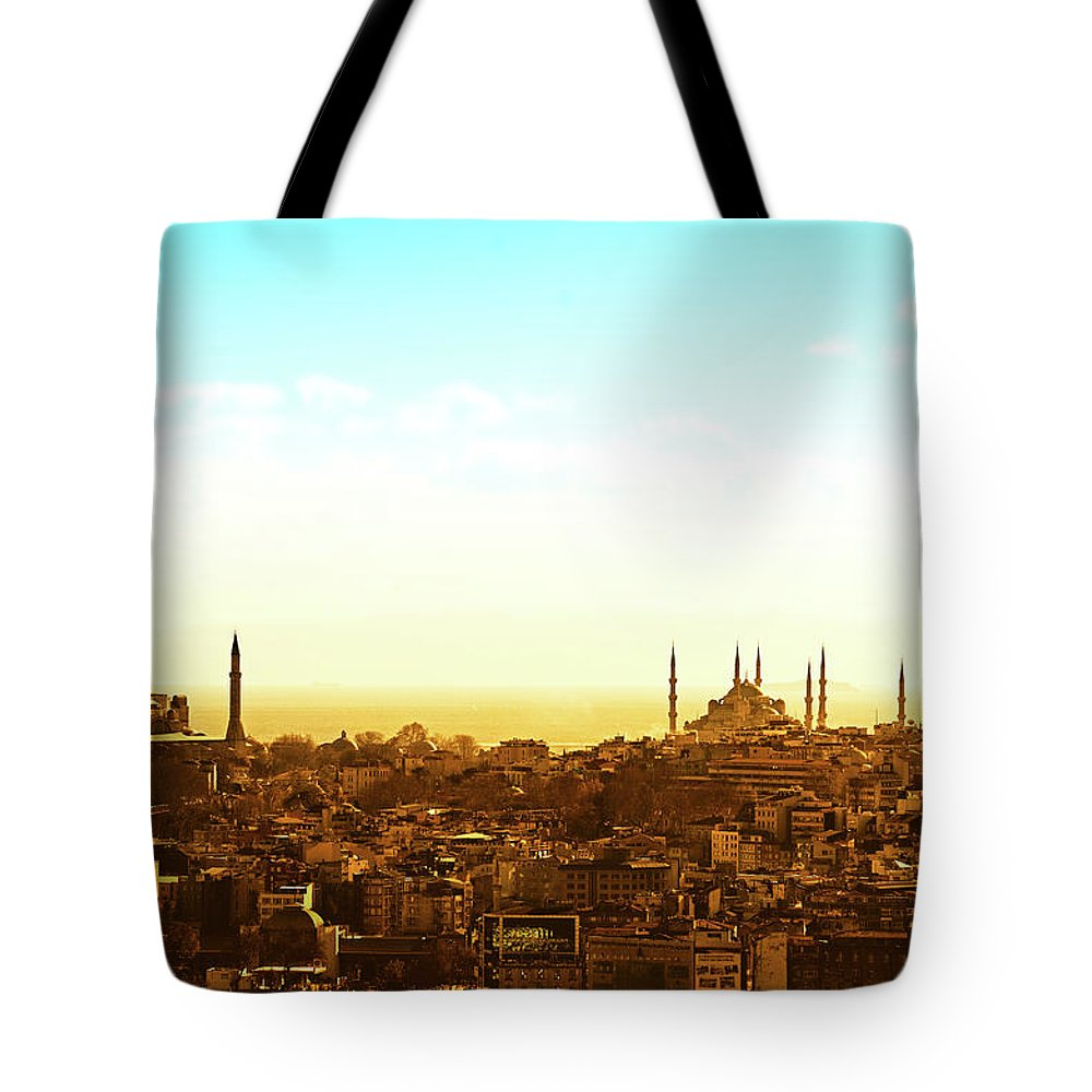 Tranquility Tote Bag featuring the photograph Istanbul by Dhmig Photography