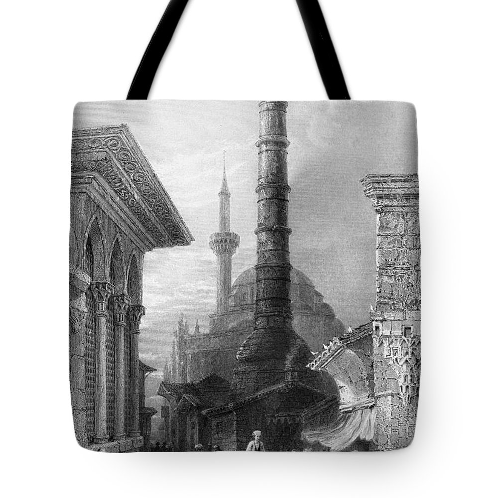 1830s Tote Bag featuring the photograph Istanbul: Porphyry Column by Granger