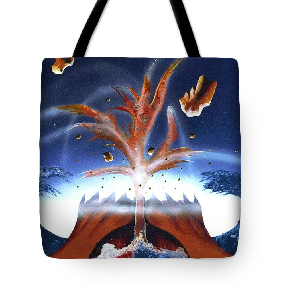 Painting Tote Bag featuring the painting It Begins by David Neace
