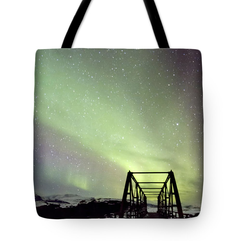 Aurora Tote Bag featuring the photograph It Came Upon A Midnight Clear by Evelina Kremsdorf