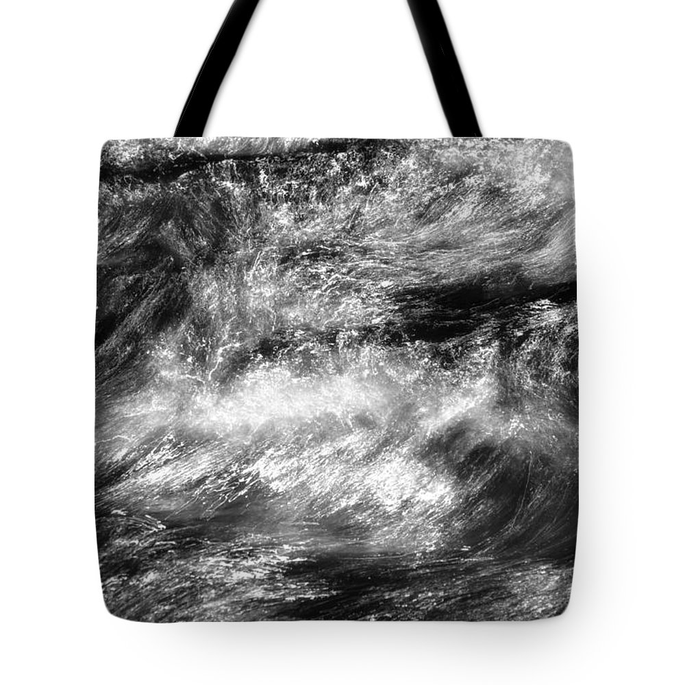 Water Tote Bag featuring the photograph It Don't Matter If You're Black Or White by Donna Blackhall