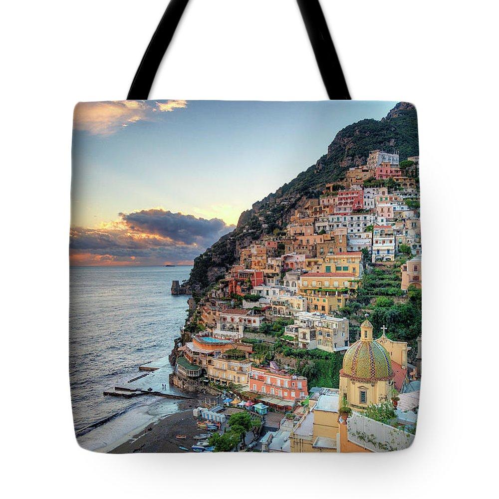Amalfi Coast Tote Bag featuring the photograph Italy, Amalfi Coast, Positano by Michele Falzone
